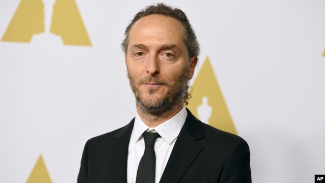 FILE - Emmanuel Lubezki arrives at the 88th Academy Awards Nominees Luncheon at The Beverly Hilton hotel in Beverly Hills, California, Feb. 8, 2016.