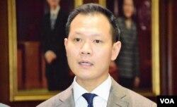 公民黨立法會議員郭榮鏗。(美國之音湯惠芸)
