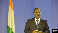 Президент Кот-д'Івуару Алласан Уаттара промовляє до народу
