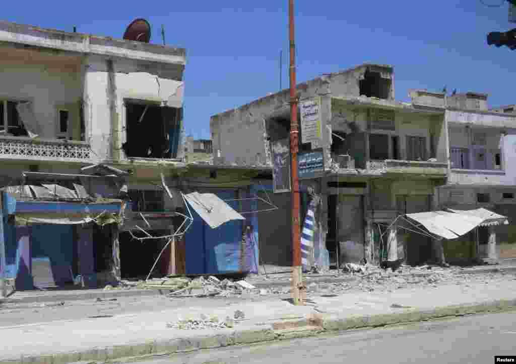 Hims yaqinidagi al-Rastan tumani ko'chalari, 11-iyul.