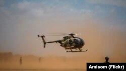 Amisom Helicopter