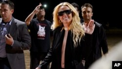 Britney Spears arrives to her announcement for her new show at Planet Hollywood Vegas, Sept. 17, 2013 in Las Vegas.