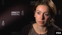 Natalya Nozadze, Amnesty International-ın Cənubi Qafqaz üzrə tədqiqatçısı (Foto BBC Azərbaycancaya məxsusdur)
