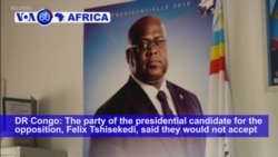 VOA60 Africa - DR Congo Polls Postponed One Week to December 30