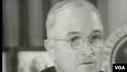 杜魯門總統宣佈將麥克阿瑟撤職(視頻截圖)