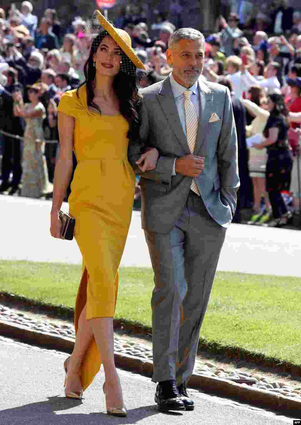 جورج کلونی هنرپیشه آمریکایی و همسرش امل کلونی