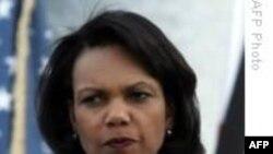 ديدار کاندوليزا رايس وزير امور خارجه آمريکا از ليبی