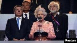 Ratu Elizabeth mendeklarasikan pembukaan Olimpiade London hari Jumat malam (27/7).