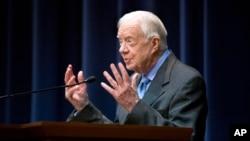 FILE - Former President Jimmy Carter.