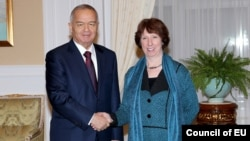 Prezident Karimov Yevropa Ittifoqi Tashqi ishlar vazirasi Ketrin Eshton bilan, Toshkent, 2012