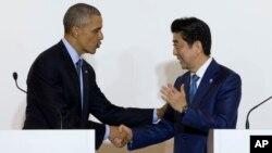 Барак Обама и Шинзо Абэ