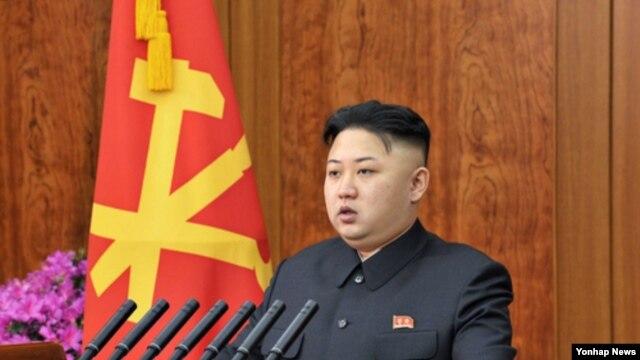 1일 조선중앙TV와 조선중앙방송 등을 통해 육성 신년사를 발표한 북한의 김정은 국방위원회 제1위원장.