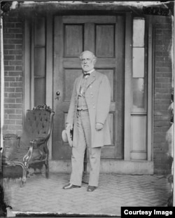 A portrait shows Confederate General Robert E. Lee. (Courtesy: The National Archives)