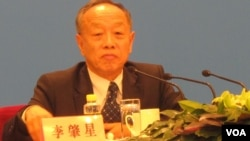 前中国外长李肇星, 2012年为中国全国人大发言人(资料照片 美国之音张楠拍摄)