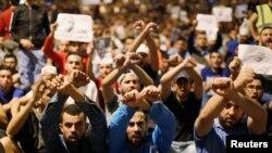 Des manifestants rassemblés à Al-Hoceïma protestent contre l'injustice et la corruption, au Maroc, 13 juin 2017.