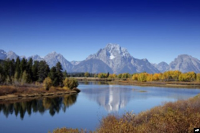 One of the most beautiful national park views, seen by fewer visitors this year, is of the Teton Range from the flat valley in Grand Teton National Park.