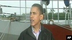 صدر اوباما لوئی زیانا میں