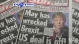 VOA60 Duniya: Shugaban Amurka Donald Trump Ya Soki Firai Minista Theresa May