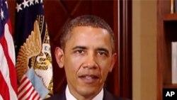 奥巴马总统星期六发表每周例行讲话
