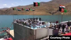FILE - Preparations for the inauguration of the Salma Dam, referred to as the Afghanistan India Friendship Dam, are seen in this June 4, 2016, photo. (Courtsey photo by bjp.org)