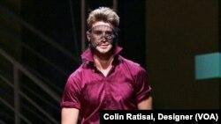 Designer Colin Ratisai, and model