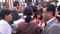 法國總統奧朗德保證支持緬甸民主過渡