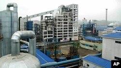 지난해 11월 북한 '조선중앙통신'이 조업을 시작했다고 보도한 흥남비료련합기업소 가스화1계열 공정