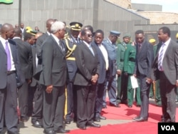 President Mugabe with his close associates.