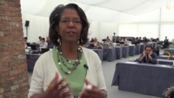 VOA's Pam Dockins at the Iran nuclear talks in Vienna