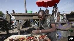 Marché de Maiduguri dans le Nord du Nigeria