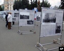 在萨兰斯克举办的苏联体育成就展览