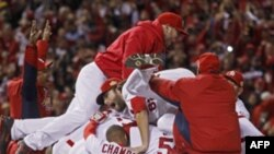 Sent Luis Kardinalsi slave pobedu nad Teksas Rendžersima i osvajenje 11. titule šampiona američke profesionalne bejzbol lige (MLB)