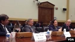 美國會眾議院就中國食品安全召開聽證(美國之音方方拍攝)