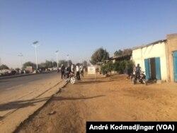 Le quartier général du porte-parole de quatre regroupements des partis politiques de l'opposition démocratique Djimet Clément Bagao, au Tchad, le 6 février 2018. (VOA/André Kodmadjingar)