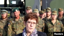 German Defence Minister Annegret Kramp-