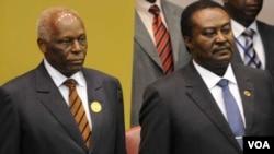 Jose Eduardo dos Santos e o presidente da Assembleia Nacional, Fernando dos Santos