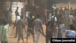 Des manfestant contre Charlie Hebdo Niger.