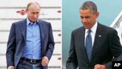 Presiden AS Barack Obama (kanan) dan Presiden Rusia, Vladimir Putin (foto: dok).