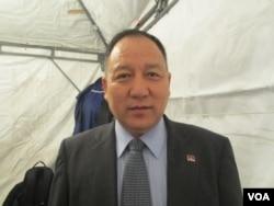达赖喇嘛西藏宗教基金会董事长达瓦才仁(美国之音张永泰拍摄)