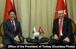 Cumhurbaşkanı Erdoğan Japonya Dışişleri Bakanı Şinzo Abe'yle