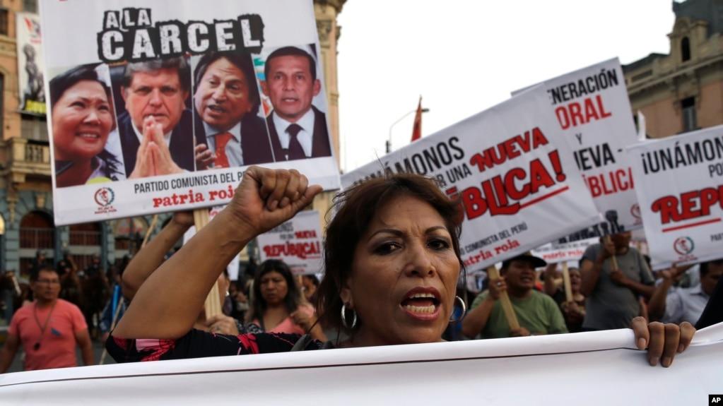 En Lima, Perú, se han registrado marchas anti corrupción durante 2017.