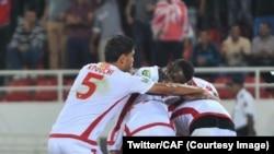 Le Wydad Casablanca a remporté à domicile la Ligue des champions samedi 1-0 face à Al Ahly grace a un but marque à la 69' minutes dans un match âprement , Sacamblaca, Maroc, 4 novembre 2017. (Twitter/CAF_Online)