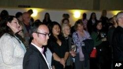 Đạo diễn Nguyễn Đức Minh trong buổi buổi gặp gỡ khán giả tại San Jose, Chủ nhật 04 tháng Ba, 2012. Ảnh Tường Linh/Việt Tribune