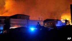 智利港口城市瓦爾帕萊索發生大火,至少兩人喪生,大火燒毀500所房屋