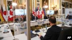Sastanak ministara vanjskih poslova zemalja G-7 u Londonu, 4. maj 2021.