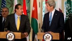 Шейх Хамад бен Джасем Аль Тани и госсекретарь США Джон Керри