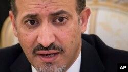 Ahmad Jarba, jefe de la delegación siria a las pláticas de paz.