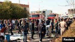 Erbil'deki patlamanın ardından olay yeri