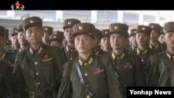 지난 17일 제4차 군 중대장·중대정치지도원대회에 참가할 중대장·중대정치지도원들이 평양에 도착했다고 조선중앙TV가 전했다.