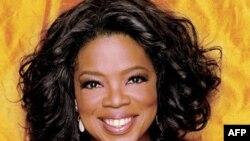 Oprah Winfrey, người chủ trì một chương trình truyền hình ở Mỹ